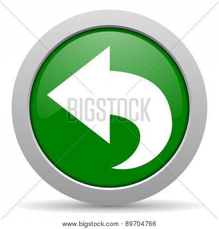 back green glossy web icon
