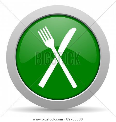 restaurant green glossy web icon