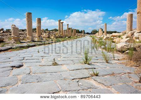 Ancient Ruin At Umm Qais In Jordan