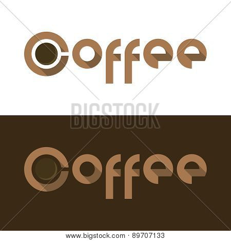 Coffee cup flat logo