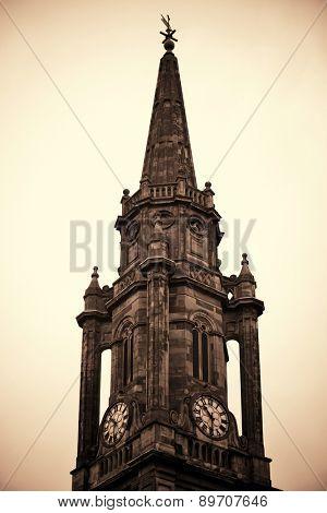Old church closeup in Edinburgh.