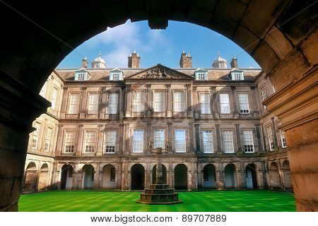 Palace of Holyroodhouse in Edinburgh United Kingdom.