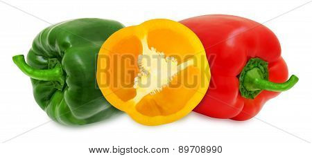 Paprika on a white background isolated