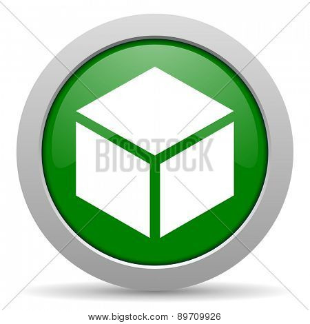 box green glossy web icon