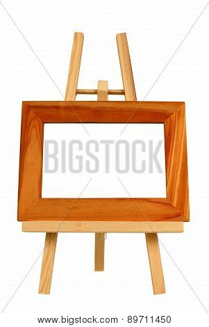 Blank Picture Frame On Little Easel