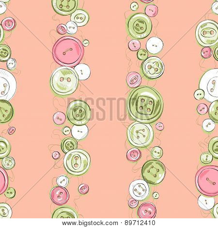 Strips of hand drawn colorful buttons