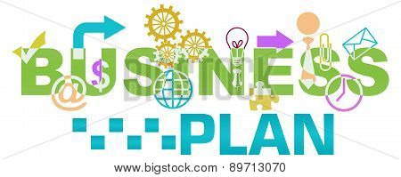 Business Plan Various Shapes Colorful