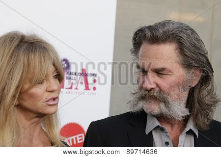 LOS ANGELES - MAY 2:  Goldie Hawn, Kurt Russell at the 3rd Annual Mattel Children's Hospital Kaleidoscope Ball at the 3Labs on May 2, 2015 in Culver City, CA