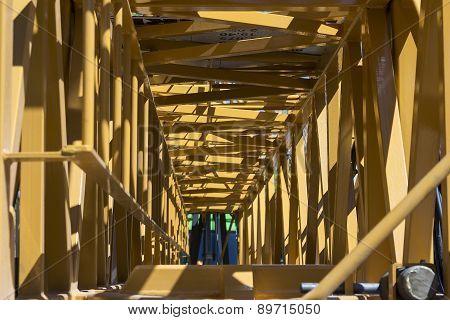 Inside the crane