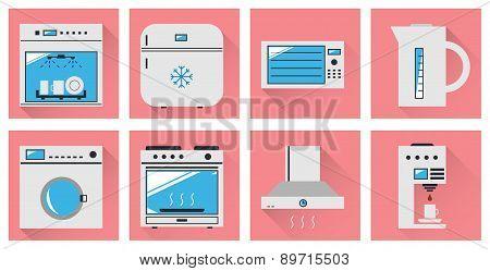 Kitchen Appliances Flat Icon