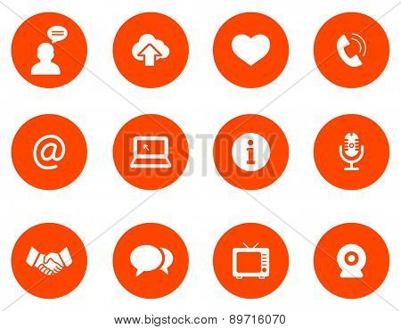 Communication  icons. Set 1.Vector