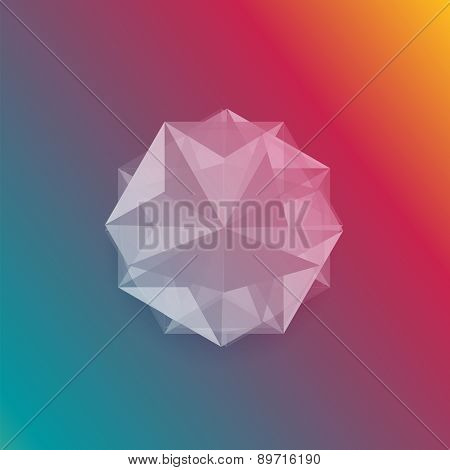 Vector abstract gem and white ice.
