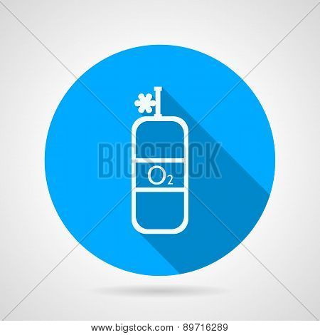 Flat vector icon for oxygen cylinder