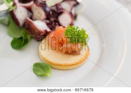 Salmon Crouton