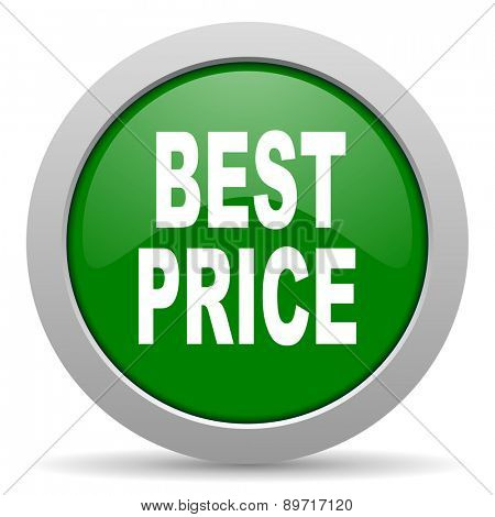 best price green glossy web icon