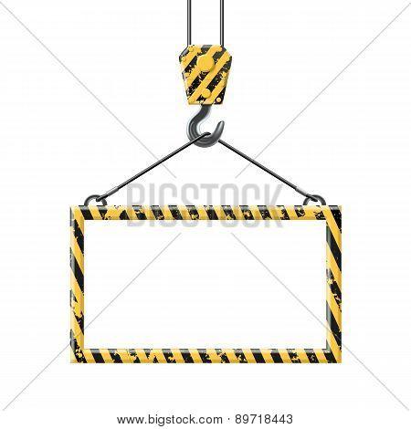 Industrial Hook Holding Frame
