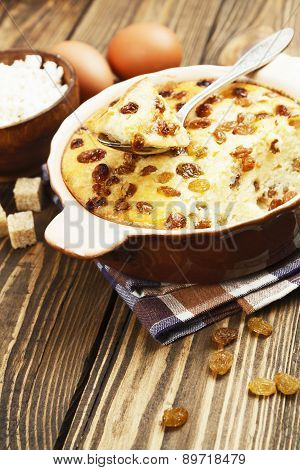 Casserole With Cottage Cheese And Raisins