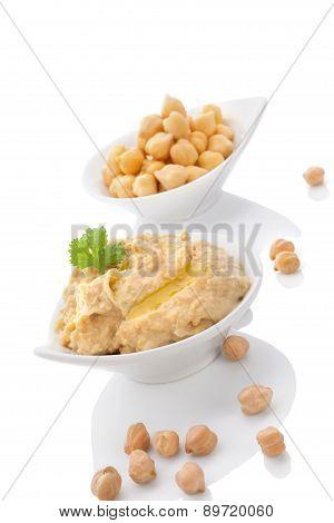 Chickpeas And Hummus.