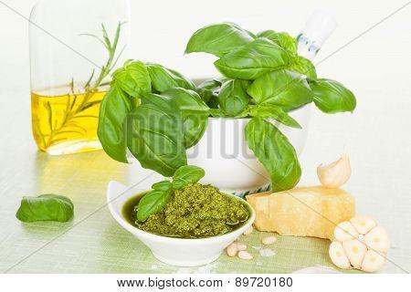 Green Pesto Background.