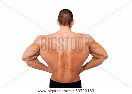 Huge Bodybuilder Back On Steroids.