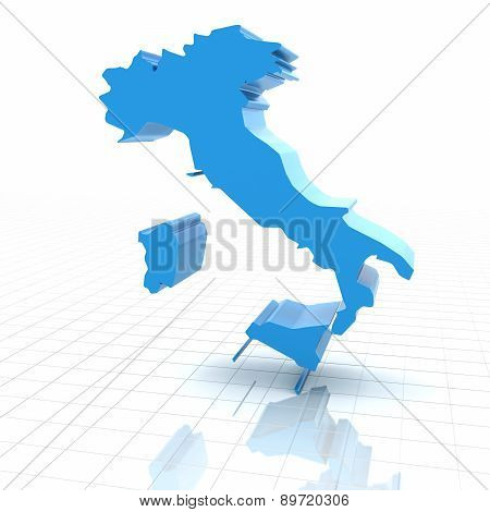 Extruded map of Italy