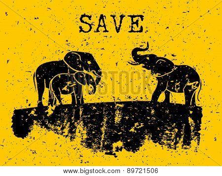 Elephants concept