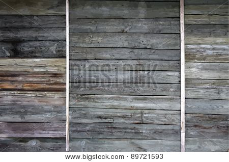 old painted wooden background, vector