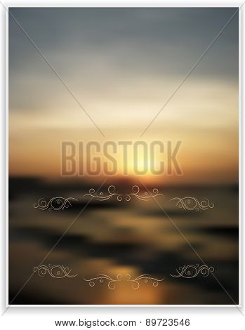 abstract blurred background greeting card floral frame desi
