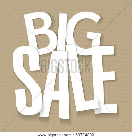 Big sale poster. Vector template.