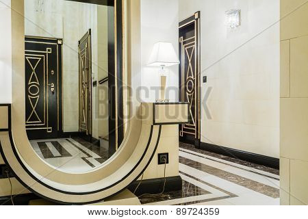Mirror In Entrance Hall
