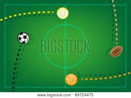 Professional Sports Frame Background