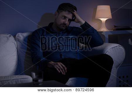 Worried Thoughtful Man