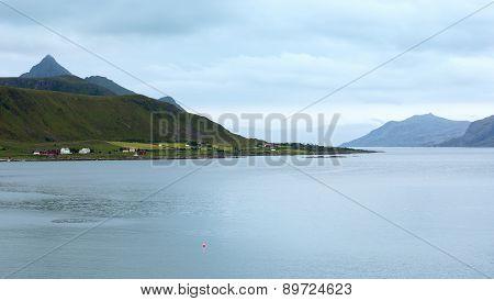 Summer Fjord (norway, Lofoten).