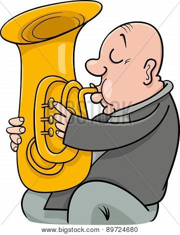 Trumpeter Musician Cartoon Illustration