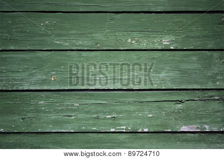 green painted wooden background, vector