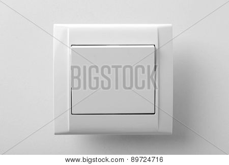 Light switch, isolated on white