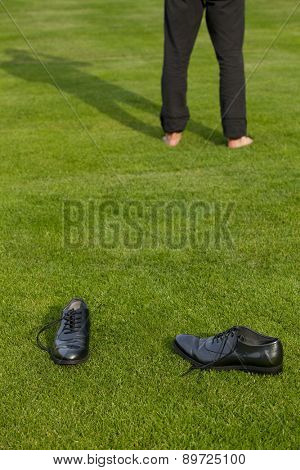 Shoes and low section of a man