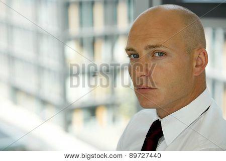 portrait of young confident caucasian businessman