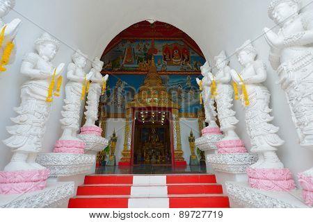 Thai Temple Of Buddhism, Wat Sanpayang Luang, Lamphun, Thailand