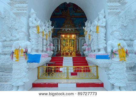 Thai Temple, Culture Of Buddhism, Wat Sanpayang Luang, Lamphun, Thailand