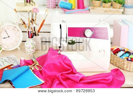 Beautiful comfortable seamstress workplace