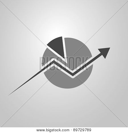 Business Analysis Symbol Concept with Chart Icon