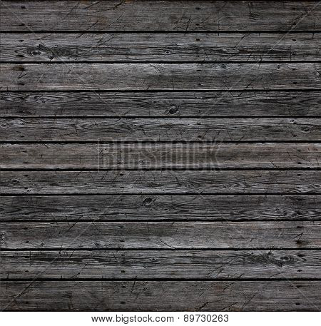 Wall of natural gray wood