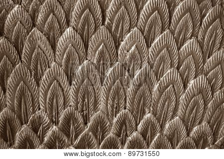 Abstract Brown Stucco Feather