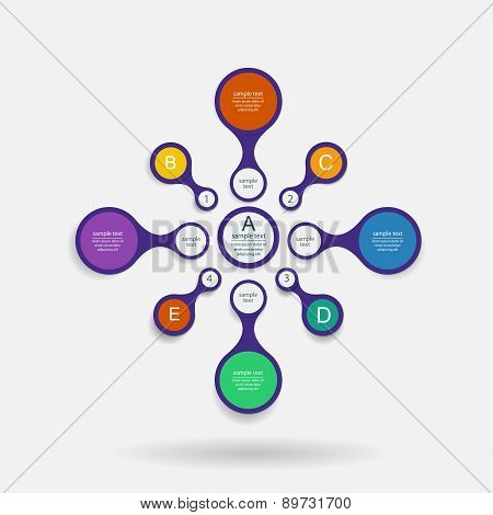 Colorful Metaball Diagram For Infographics, Vector Design Template.
