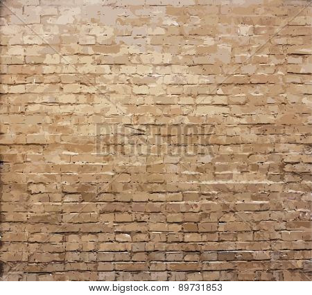 old brick wall texture, vector
