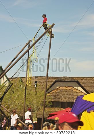 A Bungee Bouncer At The Arizona Renaissance Festival