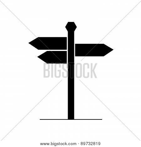 Signboard Vector Silhouette
