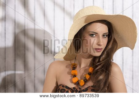Summer Girl With Sensual Expression