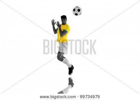 Football player against mirror